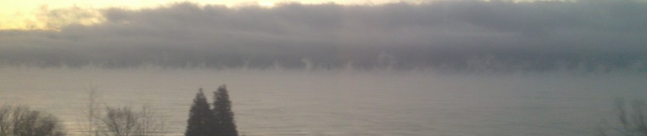 Ice Fog Rising from Lake Ontario