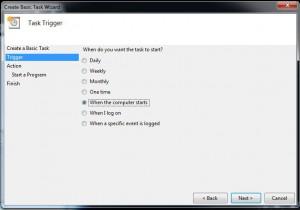 Create Backup Task: Step 2