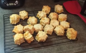 Stand-Mixer Made Cheese Biscuits Cooling