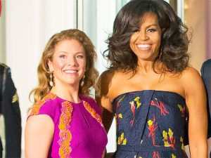 Sophie Trudeau and Michelle Obama at Canadian State Dinner