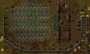 Factorio Big Uranium Mining Setup